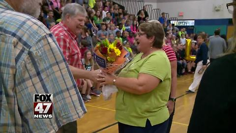 Holt teacher surprised with a big honor