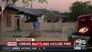 BREAKING: Fire breaks out at Phoenix home Saturday - Video