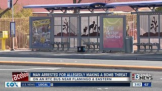 Man arrested for allegedly making bomb threat on bus