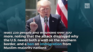 Trump Responds to Terror Attack: 'Need the Wall, Need the Ban!' - Video
