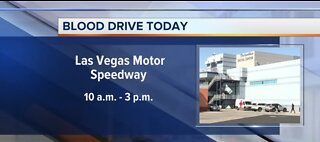 Blood drive at Las Vegas Motor Speedway from 10 am to 3 pm