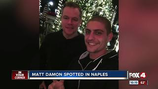 Matt Damon spotted in Naples - Video