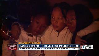 Loved ones remember teen killed in local park