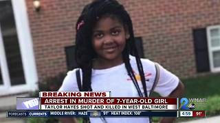 Police announce arrest in 7-year-old Taylor Hayes killing