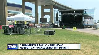 First Canalside Concert of the Summer - Video