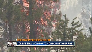 Nethker Fire still burning roughly 2,382 acres, 18 percent contained