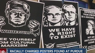 Posters promoting white supremacist group found on Purdue campus - Video