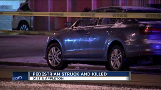 64-year-old man dies after being struck by vehicle near 91st and Appleton in Milwaukee - Video