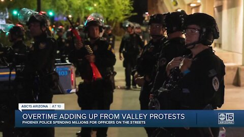 Overtime adding up from Valley protests