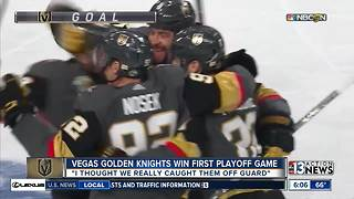 Golden Knights players get ready for Game 2 - Video