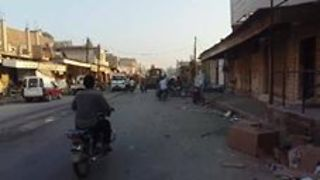 Residents Collect Body Parts After Airstrike on Hama Town (GRAPHIC) - Video