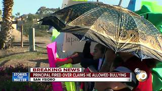 Principal fired over claims he allowed bullying - Video
