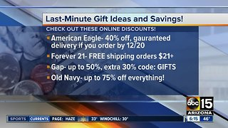Last-minute holiday savings and gift ideas