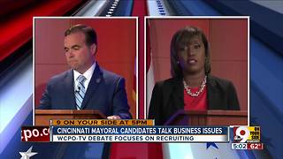Cranley, Simpson discuss bringing businesses, jobs to Cincinnati - Video