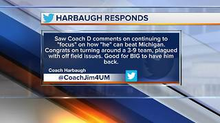 Mark Dantonio and Jim Harbaugh exchange jabs on Twitter - Video