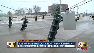 Ice wreaks havoc in Northern Kentucky - Video