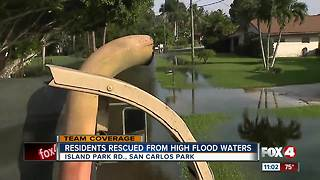 More than 140 residents rescued from flooded neighborhoods - Video
