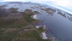 BASE jump POV over stunning Norwegian landscape - Video