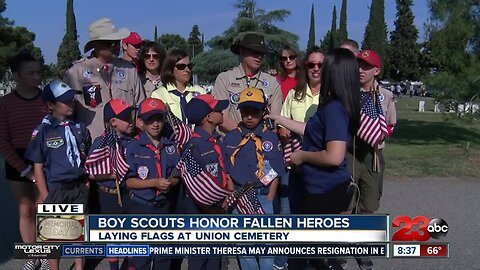 Boy Scouts Honor fallen heroes