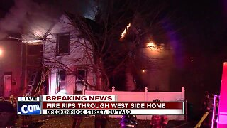 Firefighters battling massive two-alarm fire in Buffalo's Black Rock neighborhood