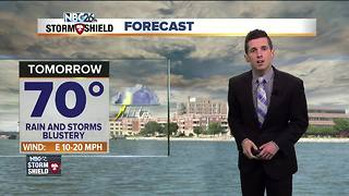 On and off storms Thursday - Video