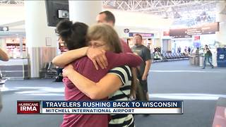 Travelers rush back to Wisconsin before Irma makes landfall - Video