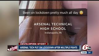 Multiple fights at Arsenal Tech cause campus lock down in Indianapolis - Video