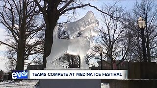 Teams compete at Medina Ice Festival