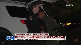 Man surrenders after hours-long standoff in Rancho Penasquitos - Video