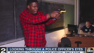 Baltimore police offer 'shoot, don't shoot' simulator to put people in officer's shoes - Video