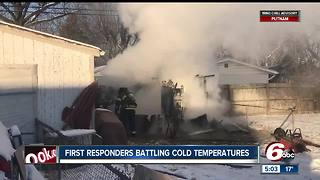 Bitterly cold temperatures are dangerous for first responders too - Video