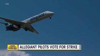 Allegiant Air pilots vote to authorize strike 'should it become necessary' - Video