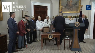 President Trump Stops To Honor The Fallen For National Pearl Harbor Remembrance Day - Video