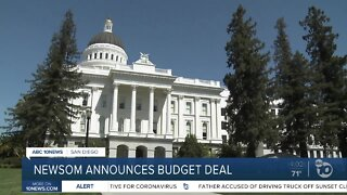 Newsom announces budget deal
