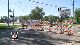 Busy intersection closed for repairs in Lansing - Video