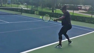 7-Month Pregnant Serena Williams Sends WARNING to Competition in New Video - Video