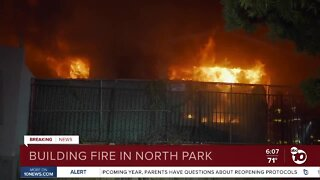 Fire engulfs abandoned home in North Park