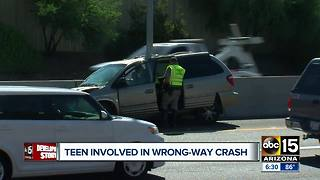 Teen driver involved in wrong-way crash Monday morning - Video