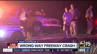 Drivers avoid serious injuries in I-10 wrong-way crash - Video