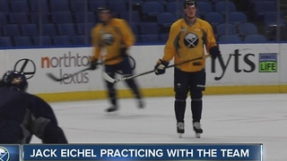 Eichel skates with Sabres yet again, won't play Friday - Video