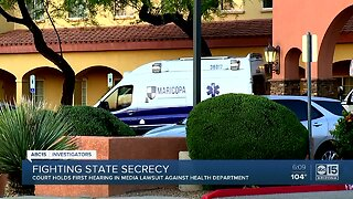 Court holds first hearing in media lawsuit against health department