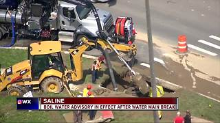 Boil water advisory in effect for Saline - Video