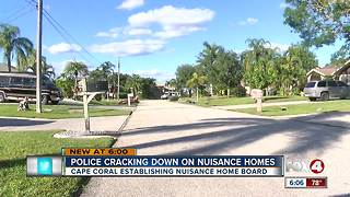 Cape Coral cracking down on nuisance homes - Video