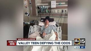 Valley teen Dylan Miller defying odds after devastating crash - Video