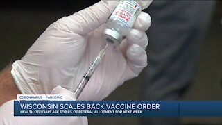 Wisconsin to pull back on vaccine orders starting Monday