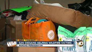 San Diegans helping California wildfire victims - Video