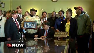 Bill to help families find missing veterans signed into law - Video