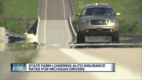 State Farm lowering auto insurance rates for Michigan drivers