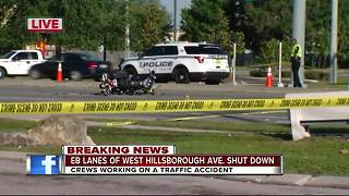 Motorcyclist injured in weekend crash at W. Hillsborough and N. Lois - Video