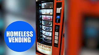 First vending machine for homeless people is unveiled - Video